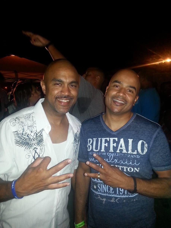 "Joseph ""Pepe"" Porter (left) with Steve ""Silk"" Hurley at 3 Yards Bangin' in 2013."