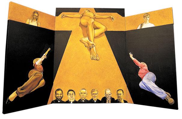 "Prey Oil on Canvas 40"" x 66"", 2013"
