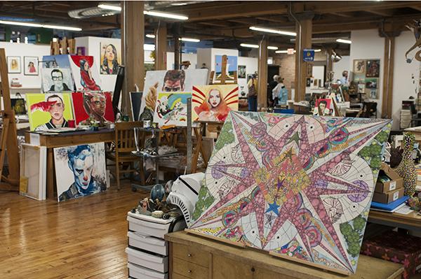 Bridgeport Art Center's fourth floor is home to Project Onward Studio & Gallery.