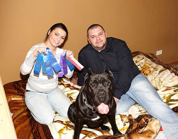 Ivo with his proud human parents, Agata Buczak and Marcin Proszek