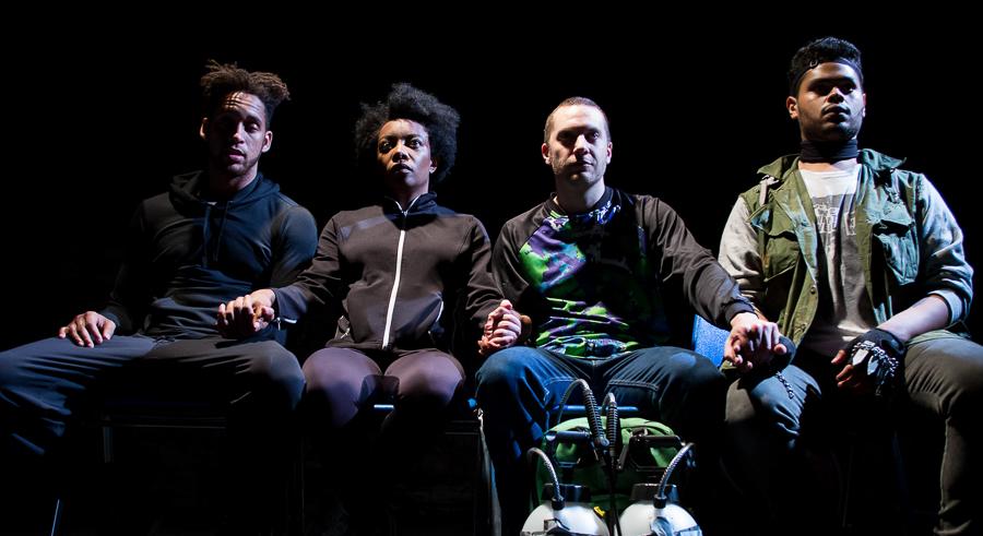 Julian Parker, Sydney Charles, Andrew Goetten, and Donovan Diaz in <i>Prowess</i>