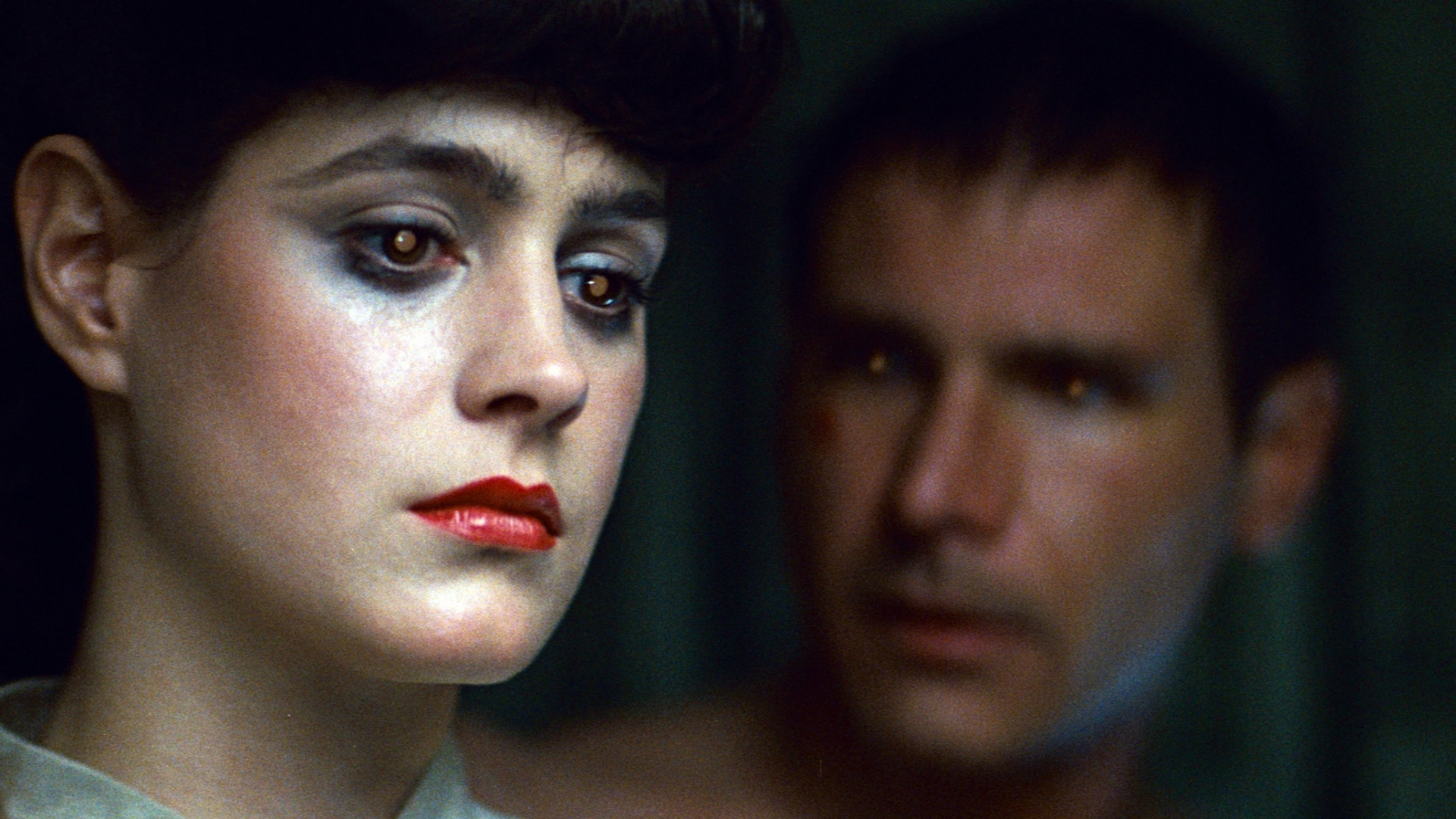 Sean Young and Harrison Ford in <i>Blade Runner</i>