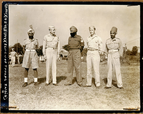American and Indian soldiers at ease. For more photos from Zbiral and Teller's collection scroll to the bottom of this page.