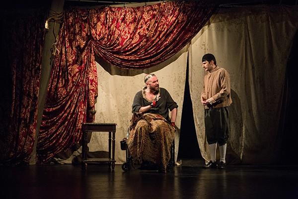 Michael Patrick Thornton in the Gift Theatre's <i>Richard III</i>