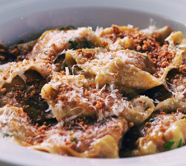 Butternut-squash-stuffed cappellacci with brown butter and sage