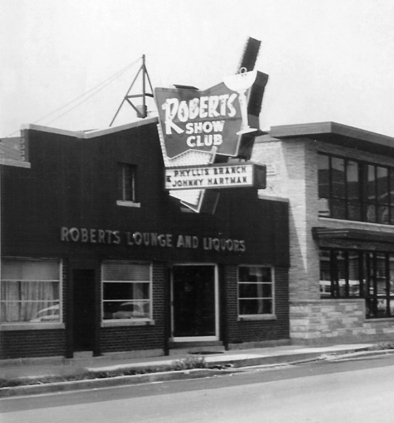 Roberts's namesake club in August 1957, shortly after its expansion