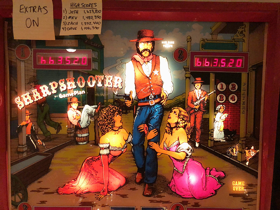 Roger is depicted as a sheriff from the Old West in the 1979 pinball game Sharpshooter