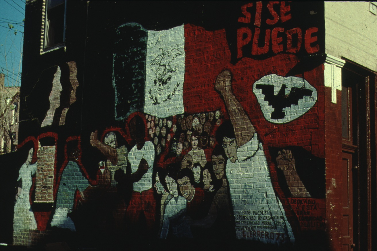 Guerrero completed his first mural, <i>Si Se Puede</i> (<i>Yes We Can</i>), in 1973.