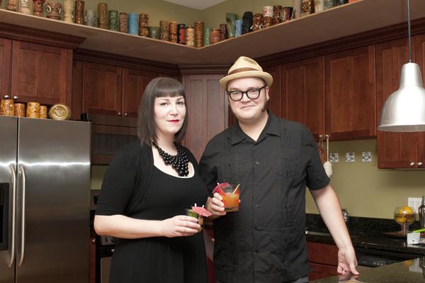 Pete Klockau and Katie Monachos began building their tiki mug collection on their honeymoon four years ago.