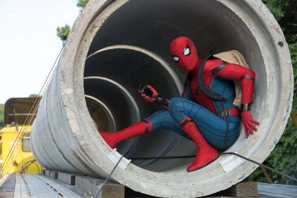 Spider-Man is a high school teen in <i>Homecoming</i>.