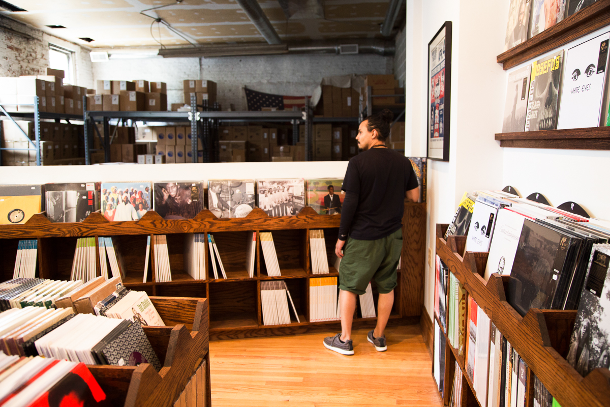 A view of Numero's cavernous warehouse space, just beyond the store shelves