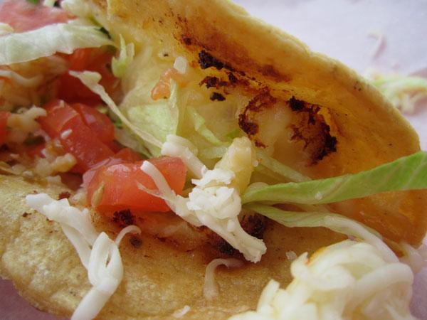Taco de papa at Zacatacos