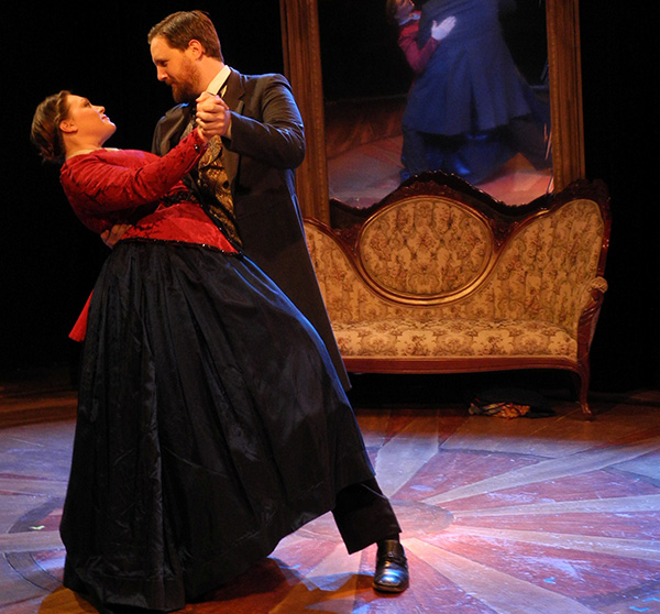 Drew Johnson and Jacquelyne Jones in City Lit's <i>The Gilded Age</i>