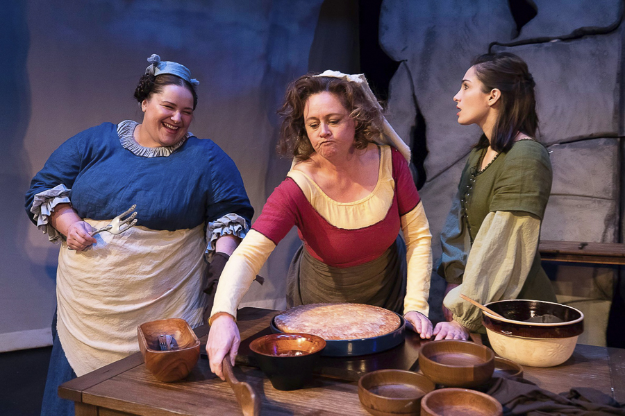 Leslie Hull, Ann Marie Lewis, and Lydia Hiller in Idle Muse Theatre's <i>The Scullery Maid</i>