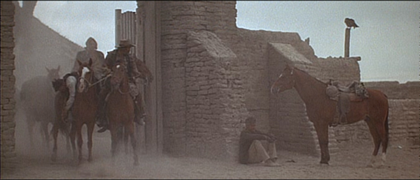 Screen grabs from the final scene of <i>The Wild Bunch</i> (1969)