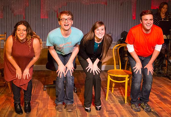 Dakota Hughes, Jake Morrissy, Ellen Fred, Alex Ghattas in Open Door Rep's <i>[Title of Show]</i>