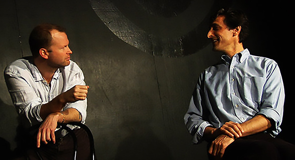 TJ Jagodowski and Dave Pasquesi have free rein of their own theater, the Mission, in iO's new space.
