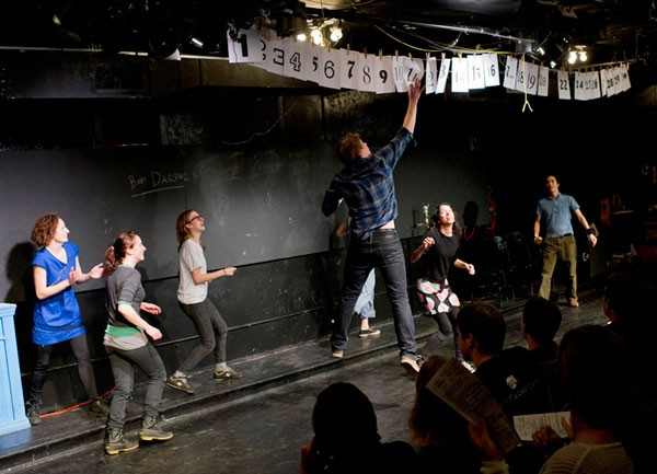 Left to right: Megan Mercier, Caitlin Stainken, Tif Harrison, Trevor Dawkins, Brenda Arellano, and Kurt Chiang