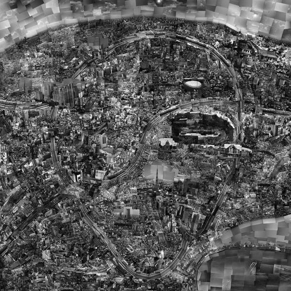 Diorama Map Tokyo by Sohei Nishino.