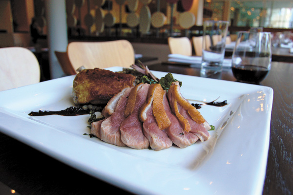 The duck breast entree