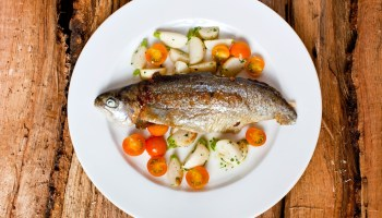 Grilled Wisconsin trout at Nightwood