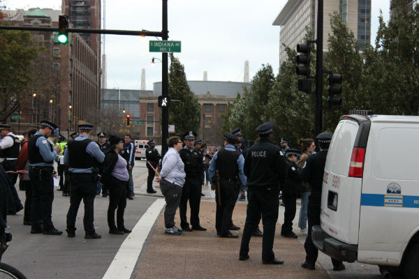 Multiple protesters were arrested during Saturday's demonstration.
