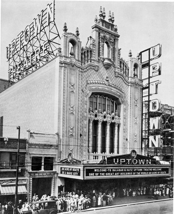 The Uptown Theater, built in 1925, took the space occupied by the original Green Mill Gardens.