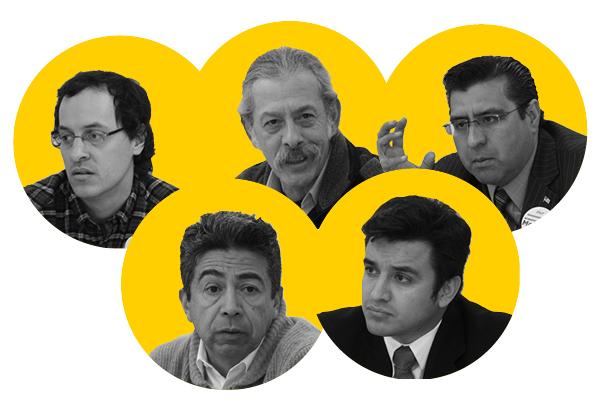 Top: Ed Hershey, Jorge Mújica, Roberto Montano; bottom: Danny Solis, Byron Sigcho