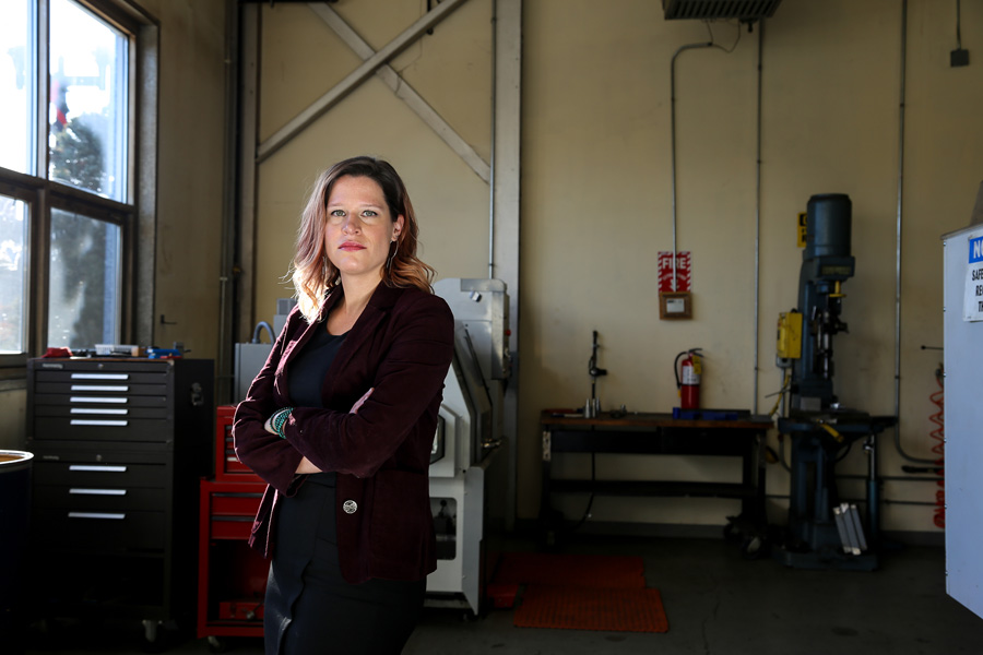 Regan Brewer Johnson, executive vice president of the Jane Addams Resource Corporation, which administers the Women in Manufacturing Program