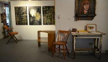 Lauren's painting studio