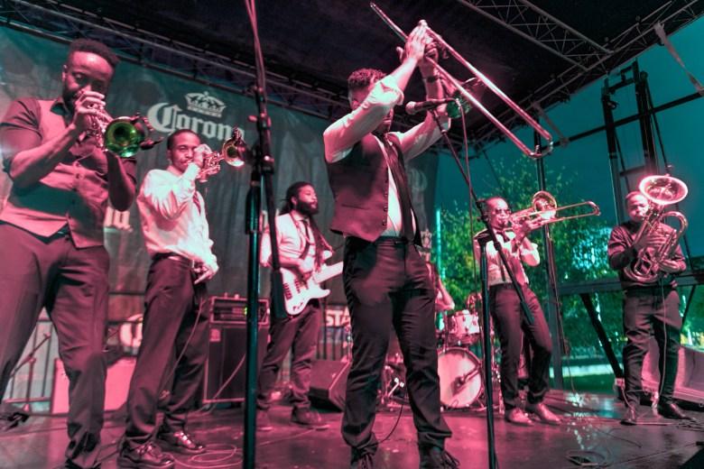 The Hypnotic Brass Ensemble at the Hyde Park Jazz Festival
