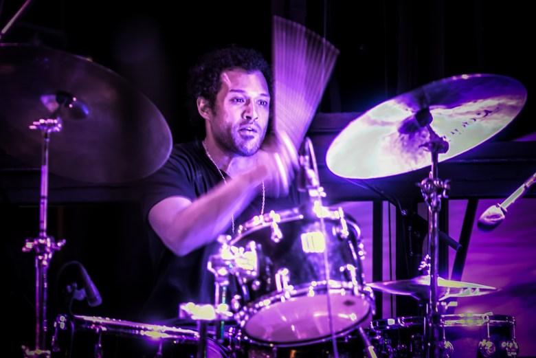 Drummer Makaya McCraven at the Hyde Park Jazz Festival