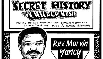 Portrait of pianist and singer Rev. Marvin Yancy embedded in the header for the Secret History of Chicago Music