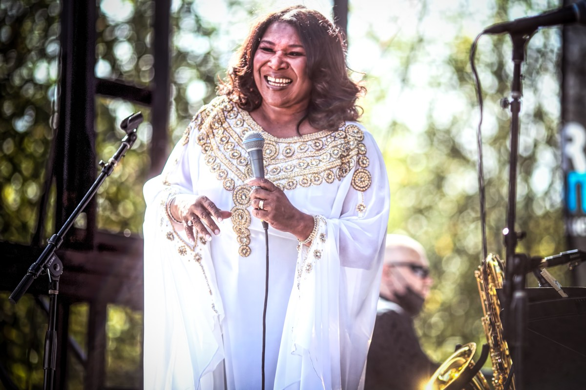 "Singer Tammy McCann presents ""Yes Mahalia!,"" a tribute to gospel legend Mahalia Jackson, at the Hyde Park Jazz Festival."