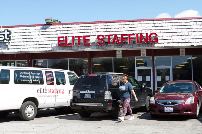 Elite Staffing is a major temporary worker placement agency in Chicago. This is their office on 55th Street in Gage Park on the Southwest Side.