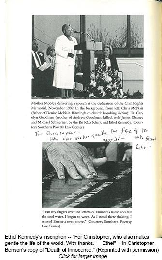 Death of Innocence - Ethel Kennedy inscription