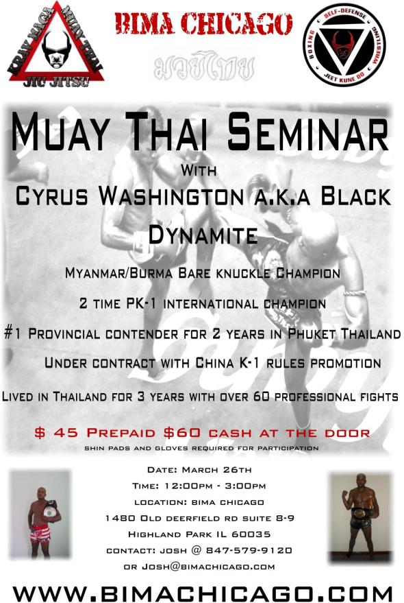 BIMA Chicago: Cyrus Washington Muay Thai Seminar