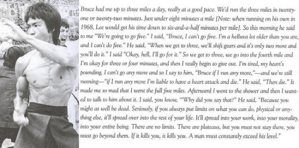 Bruce Lee on Limits, Plateaus