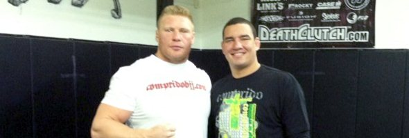 Comprido and Brock Lesnar