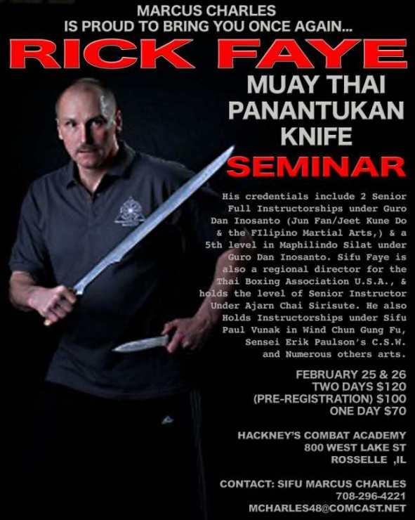 Rick Faye Seminar at Hackney's Combat