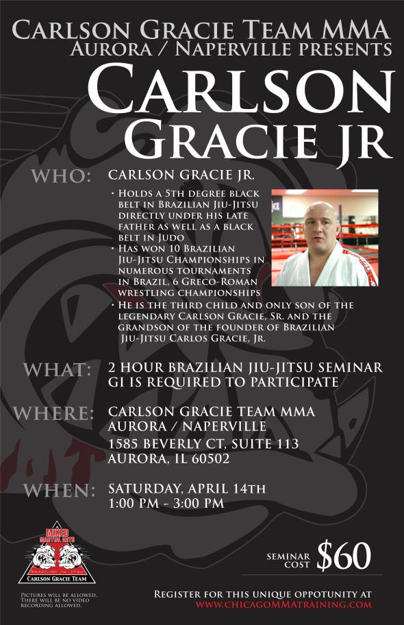 Carlson Gracie Jr. BJJ Seminar - April 14