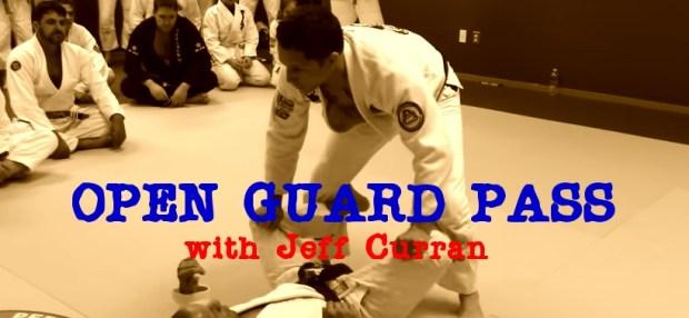 BJJ Techniques: Jeff Curran Open Guard Pass Drill