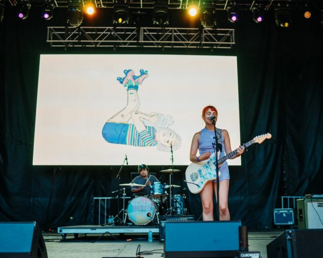 Beach Bunny at the American Eagle Stage of Lollapalooza - Courtesy of Denis Cheng