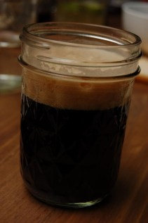 Tomek's home-brewed Chocolate Stout