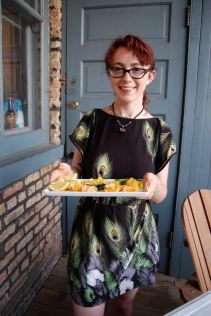 Melissa brought rare citrus from her uncle's farm in California