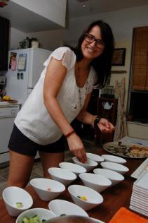Ashley prepping