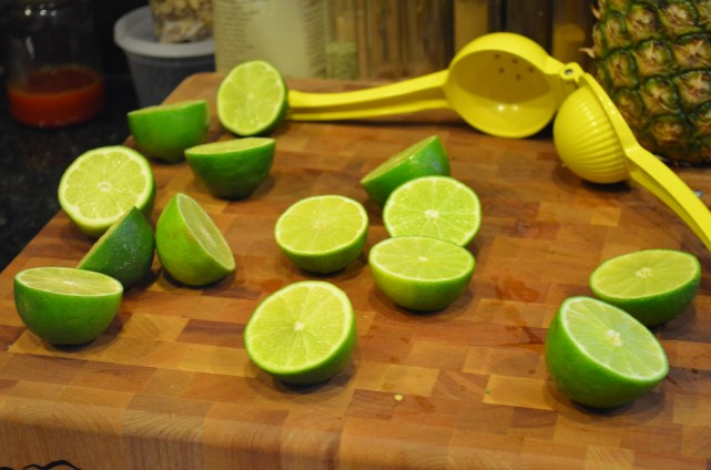Lots of limes for the cocktails