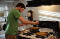Tomek preparing his duck curry