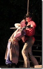 """Aaron Christensen as Pistol in Oak Park Festival Theatre's summer 2011 production of """"The History of King Henry the Fourth."""" Photo by Johnny Knight."""