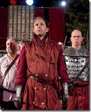 Dennis Grimes as Henry and cast of Henry V - Oak Park Festival